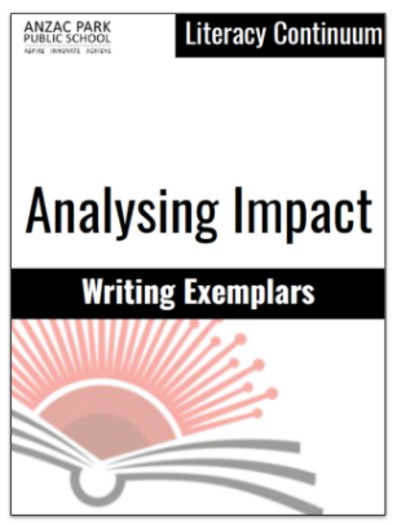 Cover page of the writing exemplars document